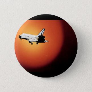最終的な飛行NASAのスペースシャトルプログラム 5.7CM 丸型バッジ