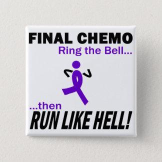 最終的なChemoは多くを-すみれ色のリボン走ります 缶バッジ