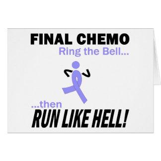 最終的なChemoは多くを-ラベンダーのリボン走ります グリーティングカード