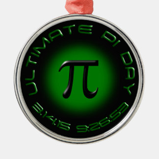 最終的なPi日2015 3.14.15 9:26: 53 (緑) メタルオーナメント
