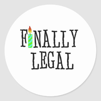 最終的に法的 ラウンドシール