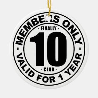最終的に10クラブ セラミックオーナメント