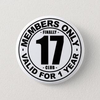 最終的に17クラブ 5.7CM 丸型バッジ
