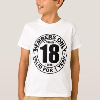 最終的に18クラブ Tシャツ