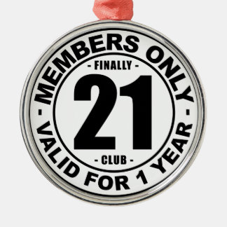 最終的に21クラブ メタルオーナメント