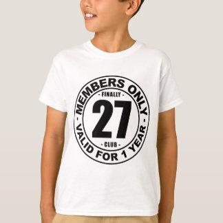 最終的に27クラブ Tシャツ