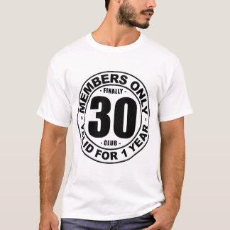 最終的に30クラブ Tシャツ