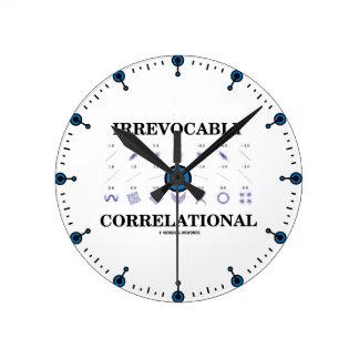 最終的にCorrelational相関関係のカンニングペーパー ラウンド壁時計