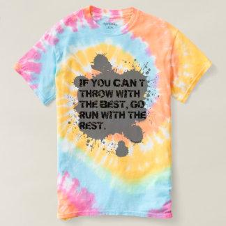 最高に絞り染めのワイシャツが付いている投球 Tシャツ