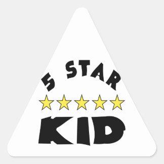 最高の子供 三角形シール