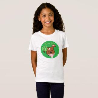最高の|は私に女の子の素晴らしいジャージーのTシャツ接吻します Tシャツ