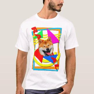 最高への全くShiba Tシャツ