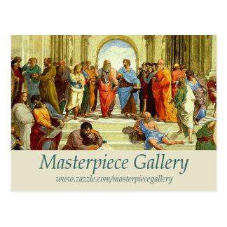 最高傑作のギャラリーロゴ、イメージ、タイトルおよびURL ポストカード