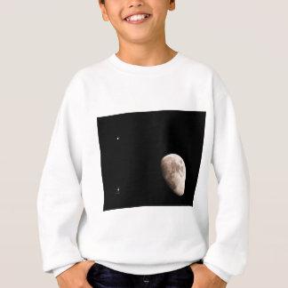 月およびジュピター スウェットシャツ