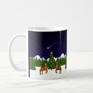 月およびヤナギのマグ コーヒーマグカップ