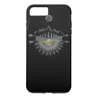 月および星の夜空の山地の曼荼羅 iPhone 8 PLUS/7 PLUSケース