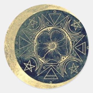 月および星の護符 ラウンドシール
