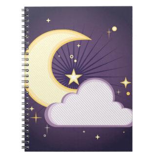 月および星 ノートブック
