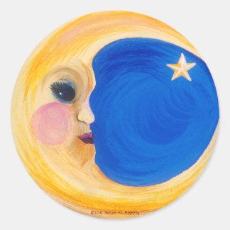 """月および星""""Laルナ""""の人 ラウンドシール"""