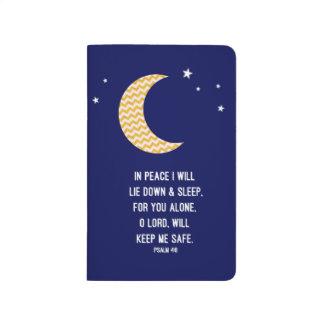 月および海軍背景の詩の睡眠ジャーナル ポケットジャーナル