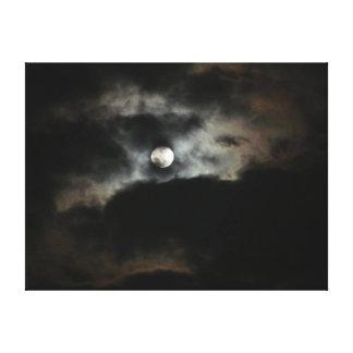 月および目完全な月の空 キャンバスプリント