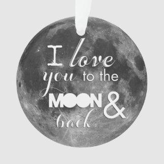 月および背部に愛して下さい オーナメント