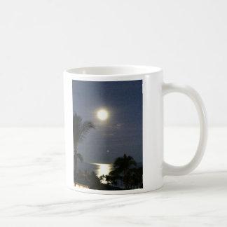 月および背部に愛して下さい コーヒーマグカップ