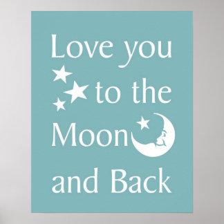 月および背部に愛して下さい ポスター