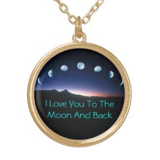 月および背部に ゴールドプレートネックレス