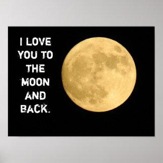 月および背部に -- 芸術ポスター ポスター