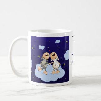 月および背部シリーズに愛して下さい コーヒーマグカップ