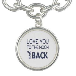 月および背部チャームブレスレットに愛して下さい チャームブレスレット