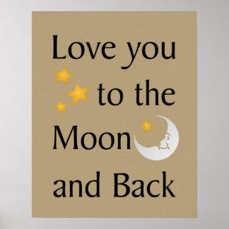 月および背部ポスターに愛して下さい ポスター