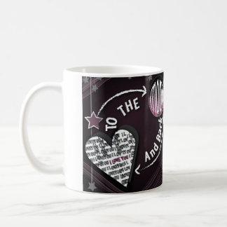 月および背部マグに コーヒーマグカップ