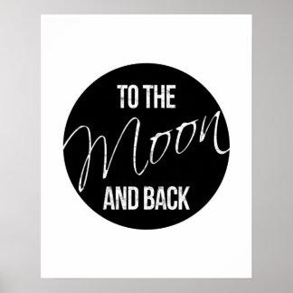 月および背部引用文愛ポスターに ポスター