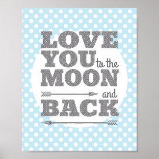 月および背部養樹園ポスターに愛して下さい ポスター