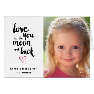 月および背部|母の日の写真の挨拶状 カード