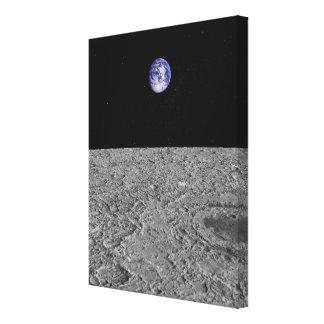 月からの地球の眺め キャンバスプリント