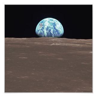 月からのEarthrise フォトプリント