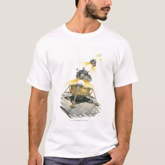 月から出発するアポロ11ワシモジュール Tシャツ