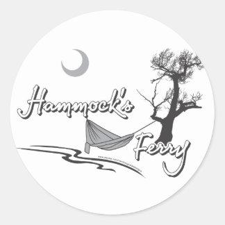 月が付いているハンモックフェリー ラウンドシール