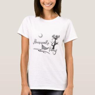 月が付いているハンモックフェリー Tシャツ