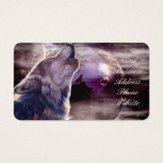 月で遠ぼえしているオオカミ 名刺