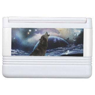 月で遠ぼえしているオオカミ IGLOOクーラーボックス