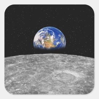 月に上がる惑星の地球 スクエアシール