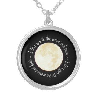 月に愛して下さい シルバープレートネックレス