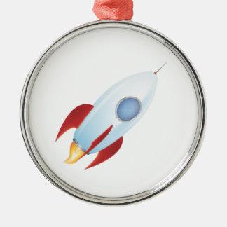 月に私を-ロケットのデザイン飛ばして下さい メタルオーナメント