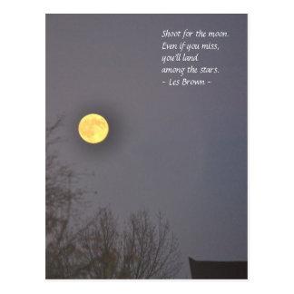 月のためのシュート ポストカード