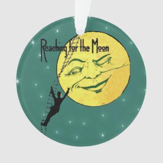 月のための月の人の梯子の範囲をまばたきさせるヴィンテージ オーナメント