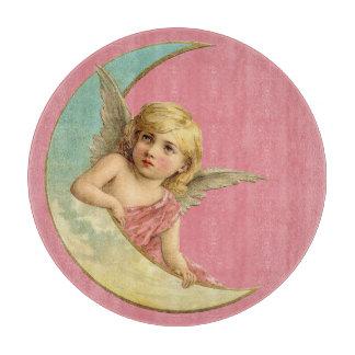 月のまな板のビクトリアンな女の子 カッティングボード